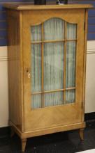 FRENCH WALNUT SINGLE DOOR BOOKCASE