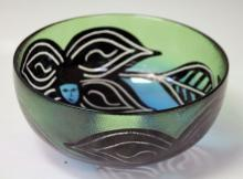 KOSTA ART GLASS BOWL, ORIGINAL BOX
