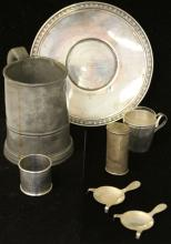 LOT OF (7) VINTAGE STERLING/PEWTER SILVER ARTICLES