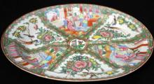 CHINESE ROSE CANTON PAINTED CHARGER