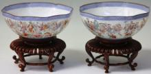 PAIR OF CHINESE EGGSHELL PORCELAIN PAINTED BOWLS