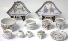 LOT OF (10) QING DYNASTY PORCELAIN ITEMS