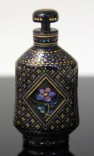 VINTAGE CHINESE  INLAID SNUFF BOTTLE