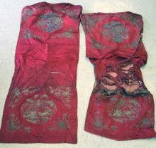 LOT OF (2) EARLY CHINESE SILK TAPESTRIES