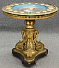 SEVRES PORCELAIN AND BRONZE CENTER TABLE