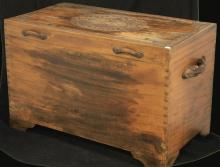 VINTAGE CHINESE CARVED BLANKET CHEST