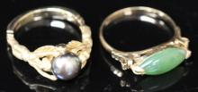 LOT OF (2) VINTAGE GOLD RINGS