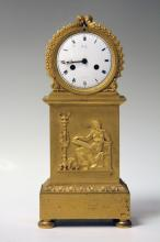 FRENCH NAPOLEAN GILT METAL CLOCK