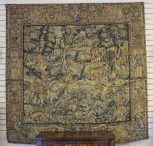 FLEMISH 19TH CENTURY WOVEN TAPESTRY
