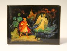 MID-CENTURY RUSSIAN LACQUERED PAINTED BOX