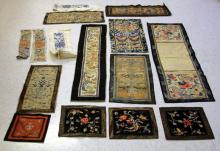 LOT OF (15) VINTAGE CHINESE TAPESTRIES