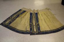 VINTAGE CHINESE SILK EMBROIDERED SKIRT