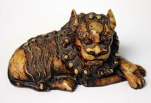 CHINESE CARVED SOAPSTONE OF LION