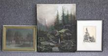 LOT OF (3) 19TH CENTURY WORKS OF ART