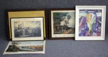 LOT OF (7) DECORATIVE WORKS OF ART