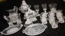 VICTORIAN FROSTED LION GLASSWARE