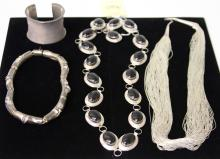 LOT OF (4) VINTAGE SILVER JEWELRY