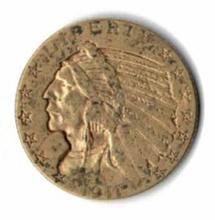 1911 FIVE DOLLAR INDIAN HEAD GOLD COIN