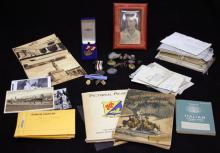 LOT OF WWII MILITARY PHOTOS, ALBUMS, MEDALS