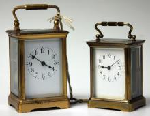 LOT OF (2) FRENCH CARRIAGE CLOCKS