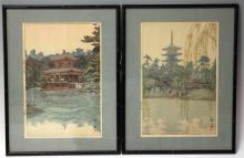 LOT OF (2) VINTAGE JAPANESE WOODBLOCK PRINTS