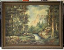 LATE 19TH CENTURY OIL ON CANVAS LANDSCAPE