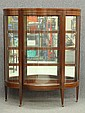 MAHOGANY CURVED GLASS CHINACABINET circa early 20th centuryheight- 64