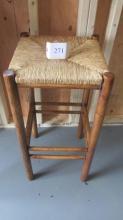 tall wicker top stool