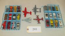 4 airplanes and 42 Matchbox cars & trucks