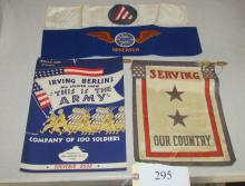 military banners, flags etc lot
