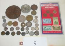 31 misc medals, coppers & Indian cents &