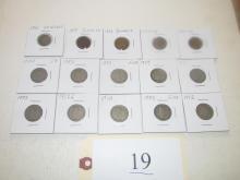 15 mixed coins