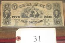 $5 Canal Bank New Orleans Note