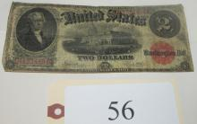 1917 circulated $2 US note
