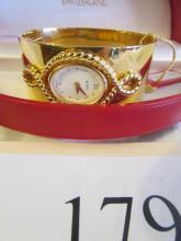 Alfex of Switzerland cuff bracelet watch