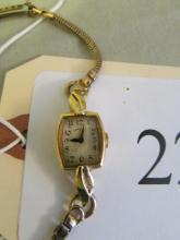 Hamilton Ladies Wrist Watch 14K Gold