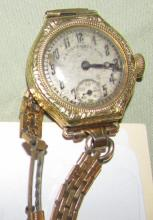 Private label Hamilton Ladies wrist watch 14K gold