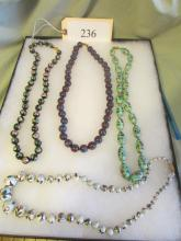 lot of 4 beaded necklaces