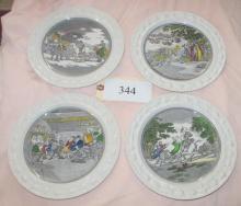 set of 4 Adams Ironstone Plates,