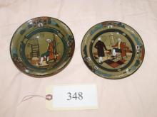 Deldare Ware Buffalo Pottery Plate and bowl