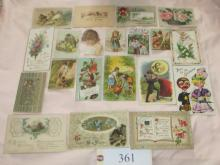 46 early post cards