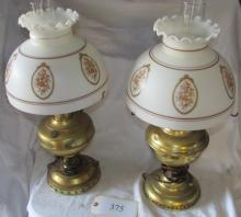 pair of electrified Rayo lamps