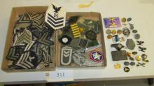 Great Lot of Military Patches, Pins, Badges, etc.