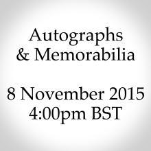 Autographs & Memorabilia - November 2015