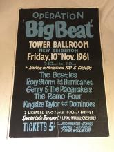 Beatles, Rory Storm Orignial Operation Big Beat Concert Poster