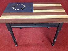 Old Country Primitive Flag Table