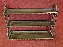 Mahogany hanging plate shelf