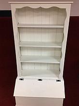 Painted storage shelf