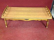 Hard rock maple coffee table
