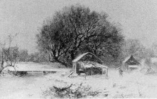 JOSEPH MORVILLER (CIRCA 1800-70) WINTER LANDSCAPE